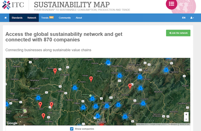 ITC launches Sustainability Map to increase transparency and connectivity in international value chains